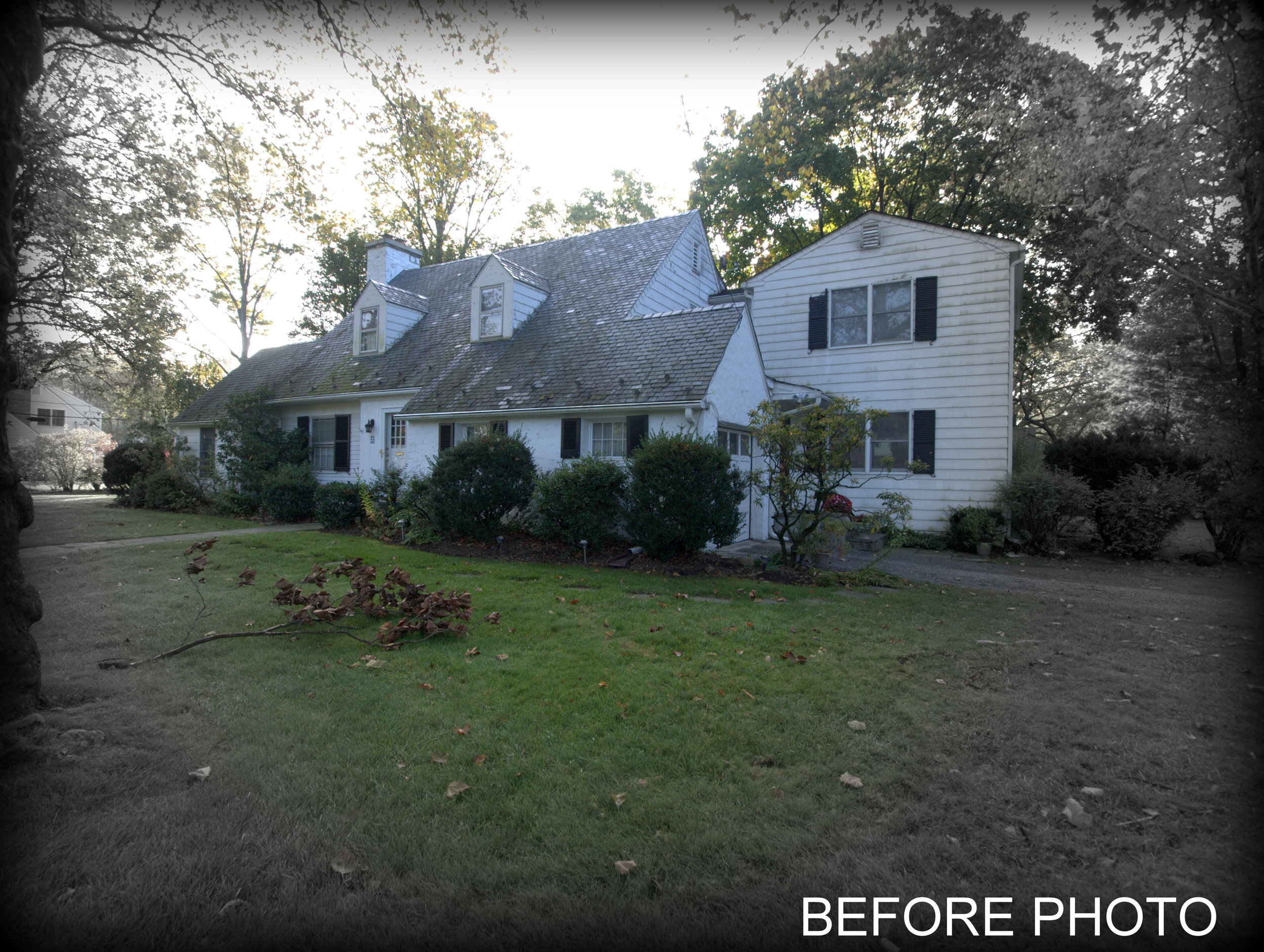The primary two story addition comprised of a new full basement. We also expanded the basement under a prior addition built with only a crawl space in 1975. The entire exterior cladding, windows, and roof were replace with the addition project.