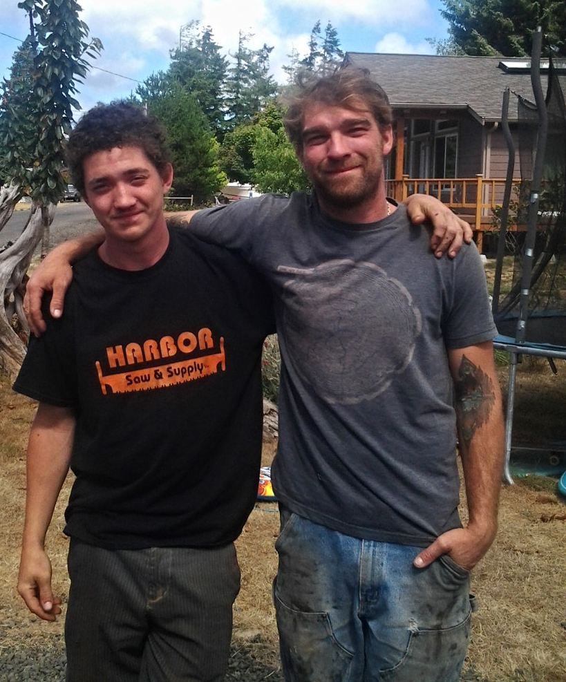"Spencer Hogan and Jeffro Uitto, two brothers with a passion for wood and storytelling. Happy to expand their (quote) ""network of cool f*%#ers!""...(unquote) =D"