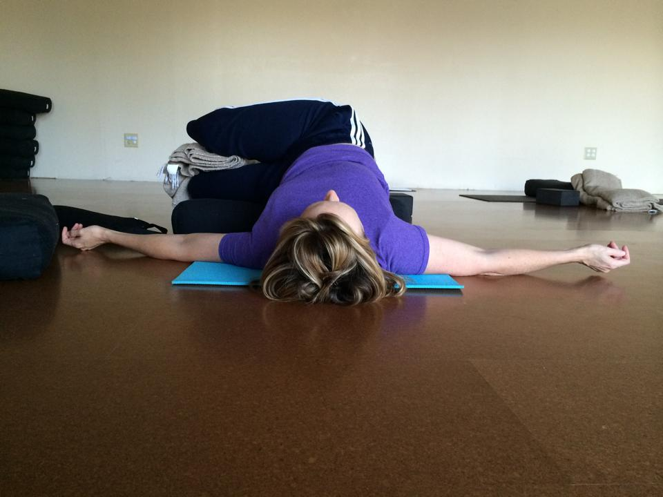 Revolved Knee Squeeze Pose