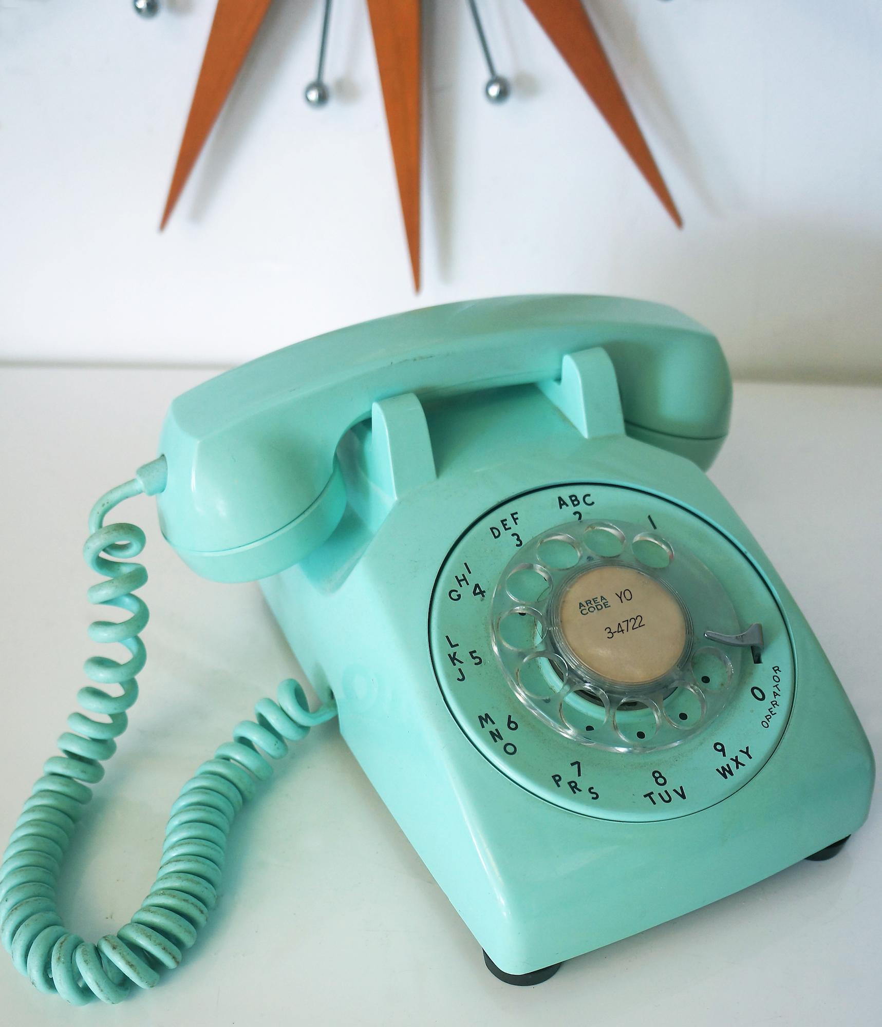 1950/60s Aqua Telephone with Chandler AZ number