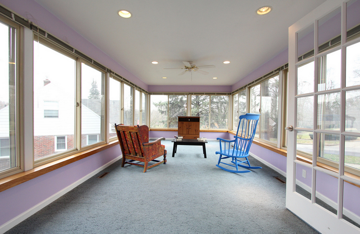 Sunroom...our favorite room in the house.