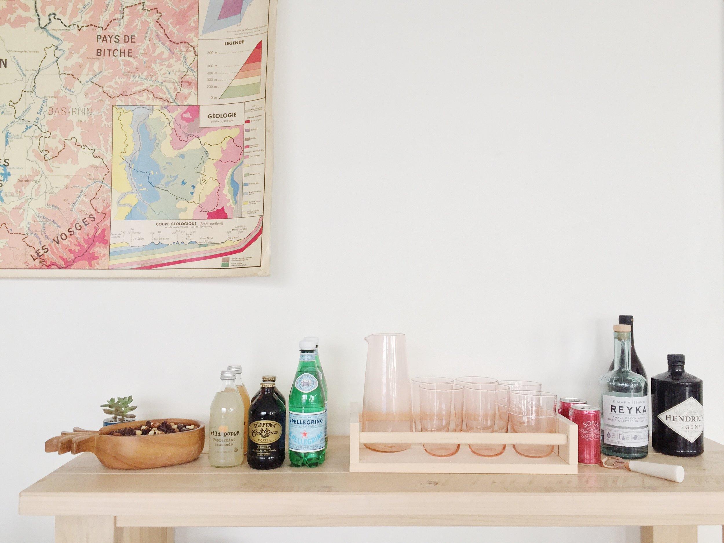 Mini bar stocked weekly