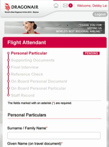 Dragonair Integrated Recruitment System