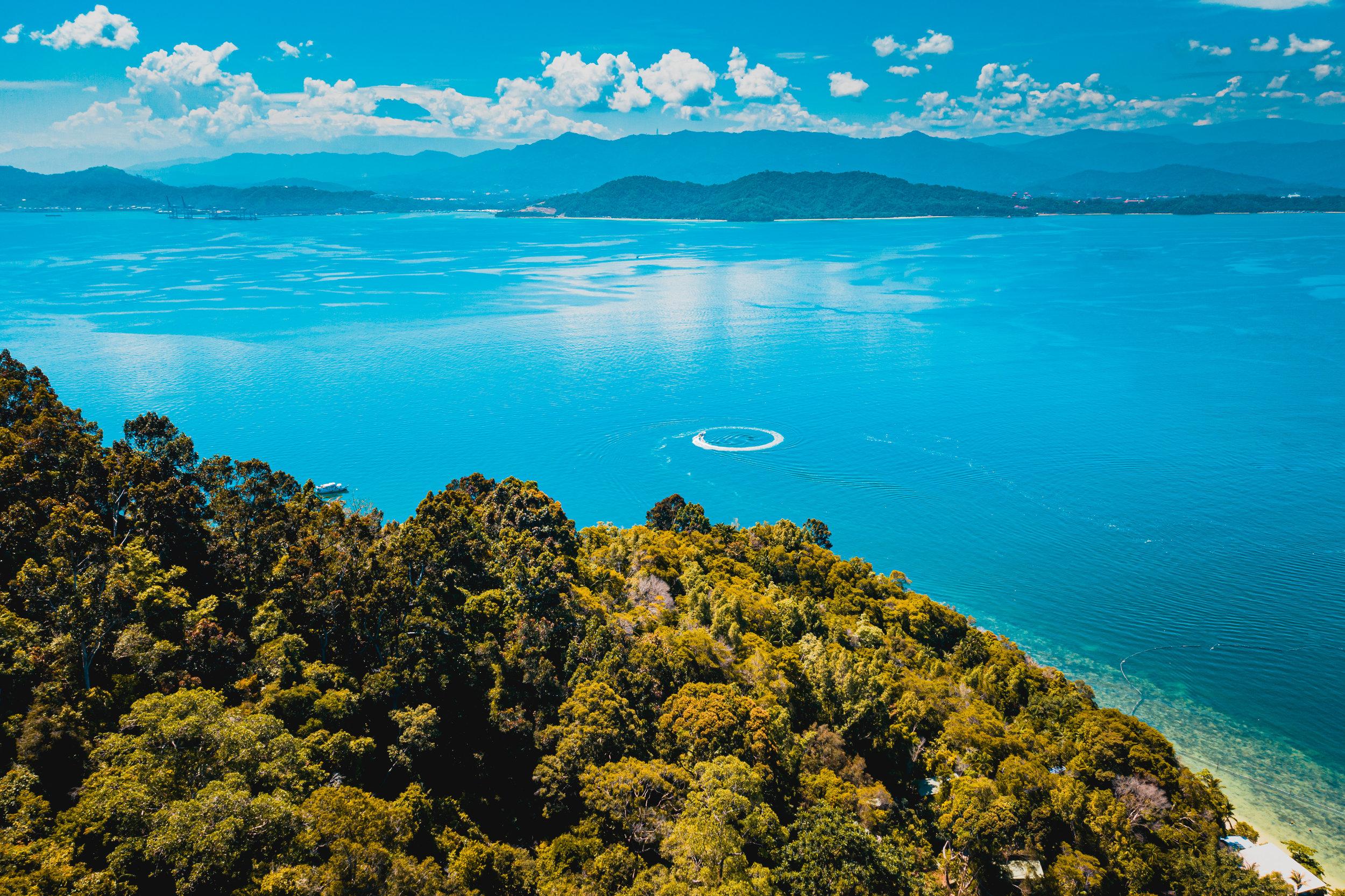 Sepanggar Island, Gaya Bay, and Sabah mainland. Shot on DJI Mavic 2 Pro. Joshua Karthik.