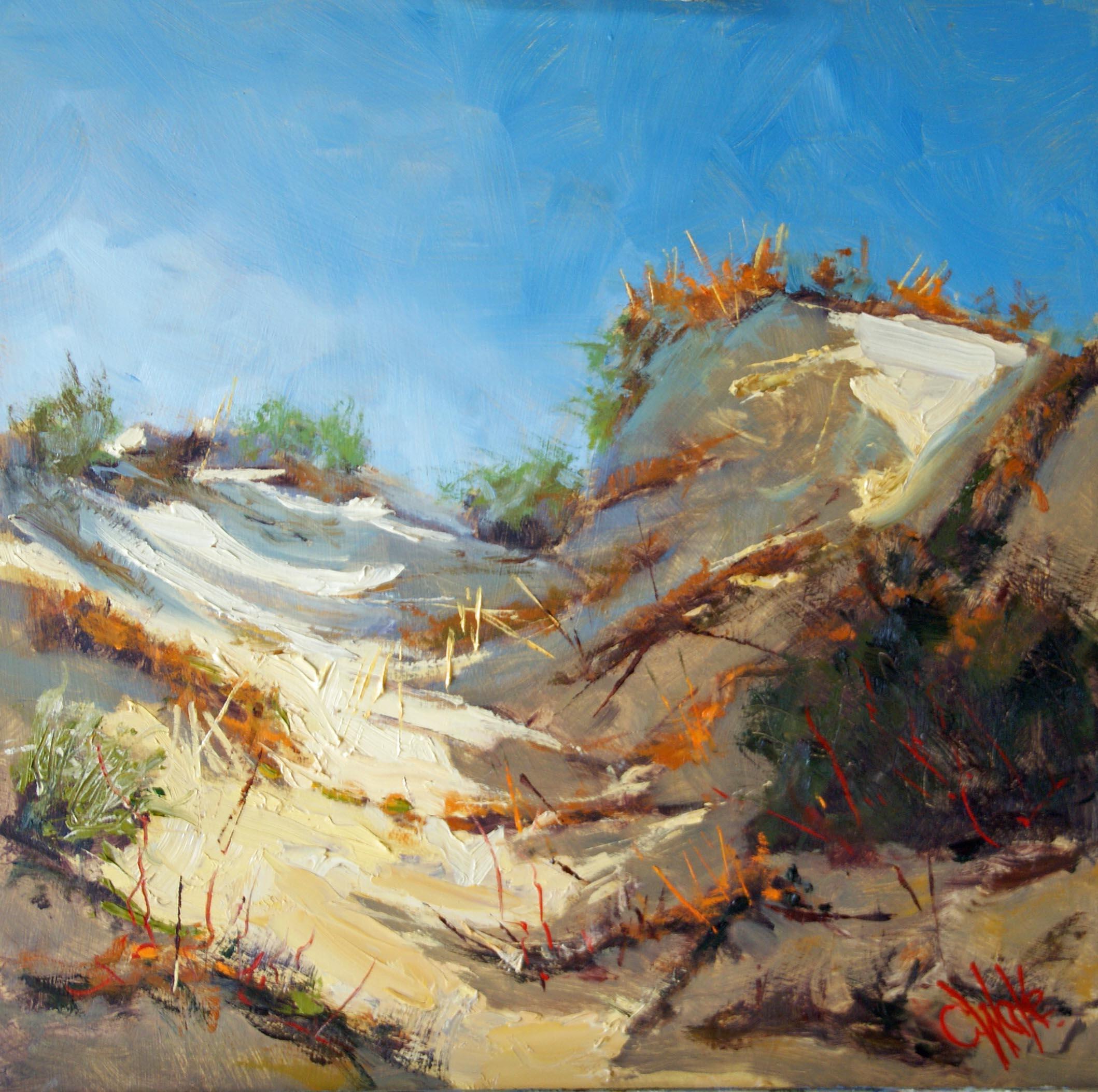 beach painting, chris wake