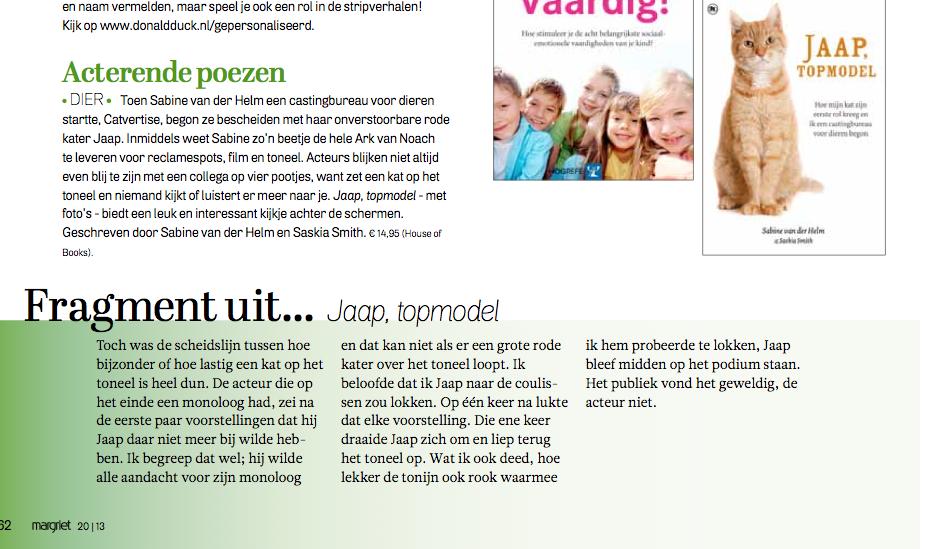 Fragment in Margriet Magazine