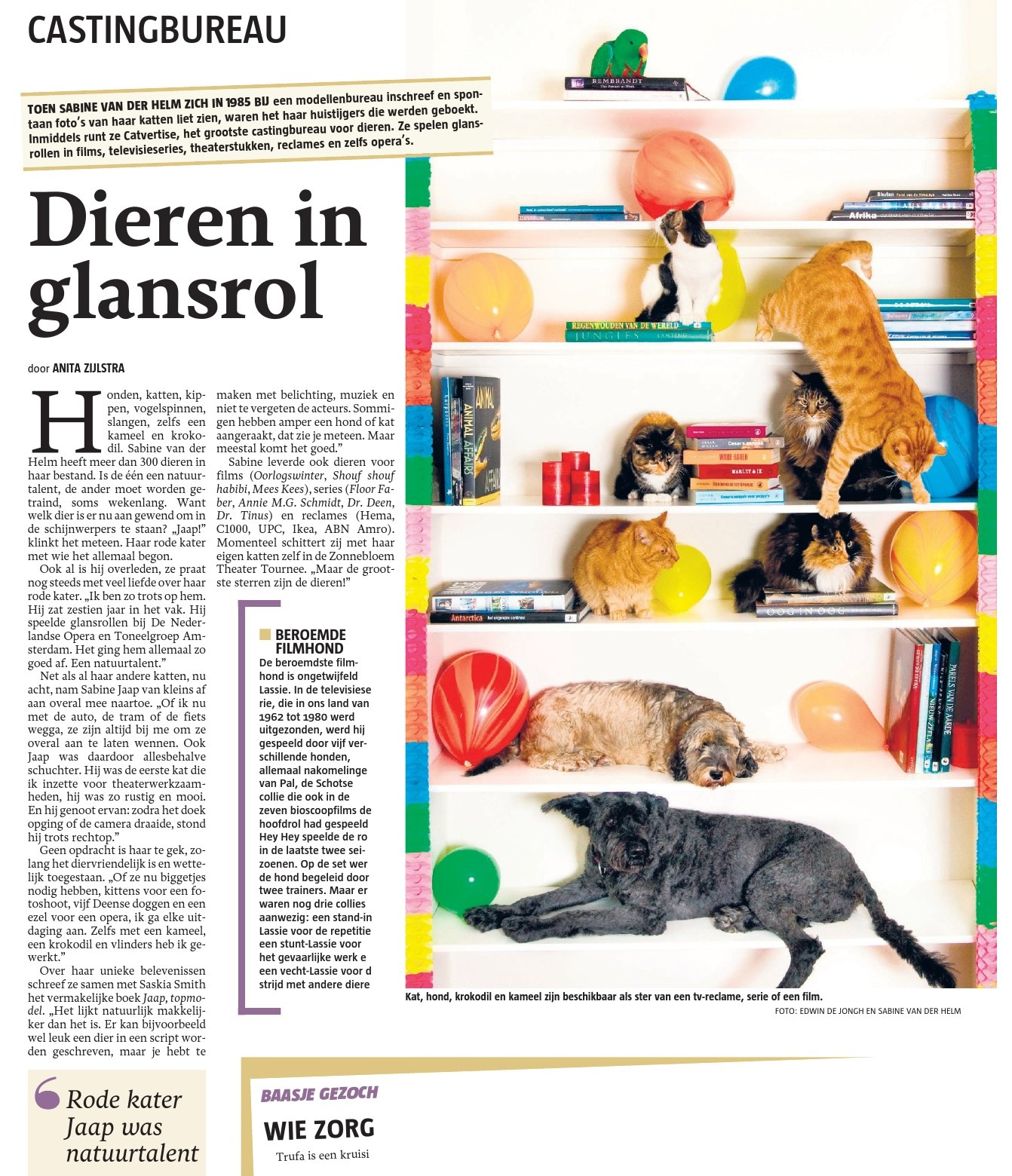 Artikel omtrent boek in de Telegraaf