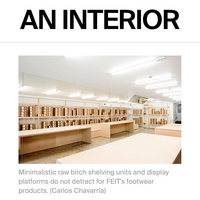 . We're so happy our latest project: 'Service & Supply' has been featured by AN INTERIOR.  Thanks so much @aninteriormag and @archpaper for the mention! . . Images: @crls.chavarria . . . . #retail #design #interiors #archpaper #feitdirect #jordanamaisiedesignstudio