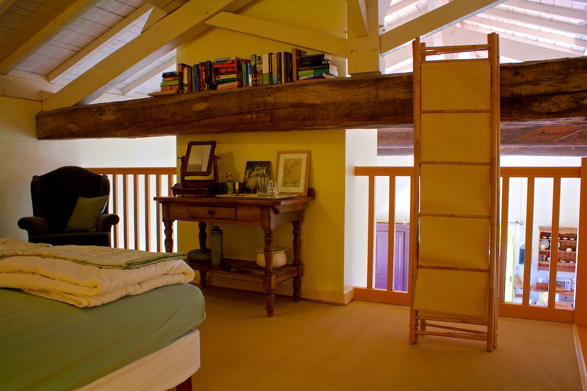 Uitzicht vanaf de slaapkamer van woning 1.