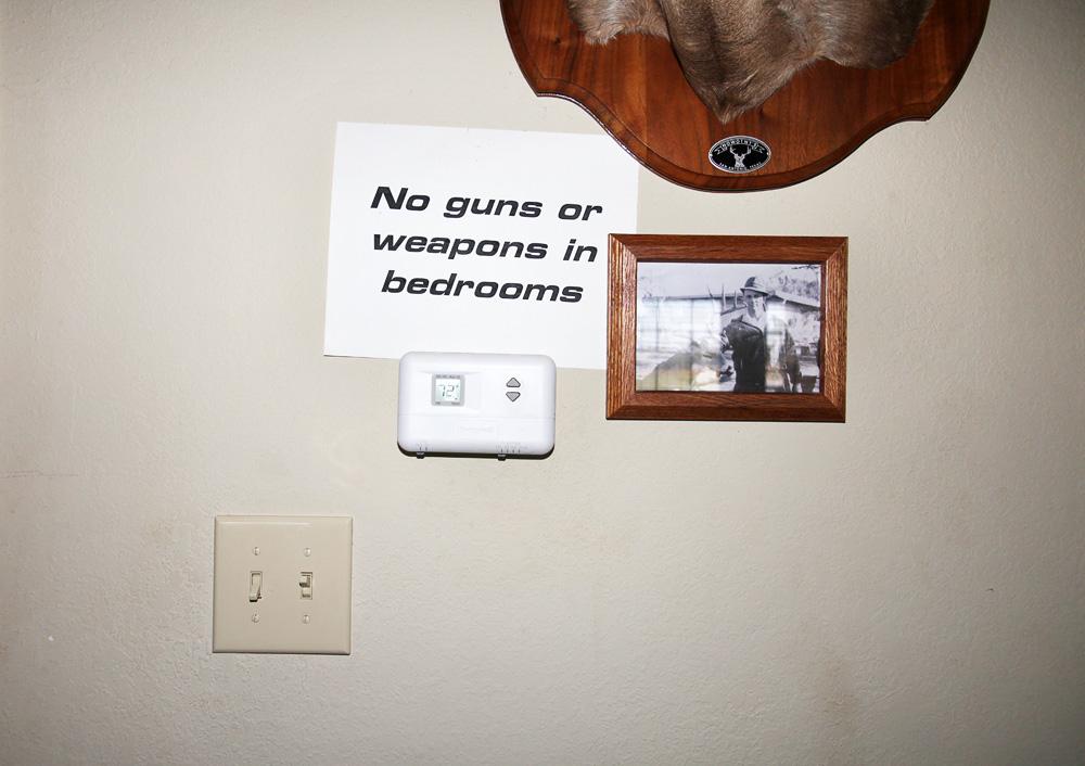 no guns in bedroom