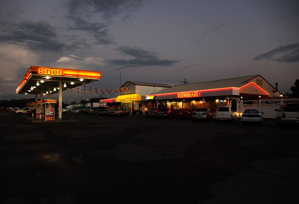 louisiana truck stop sunset