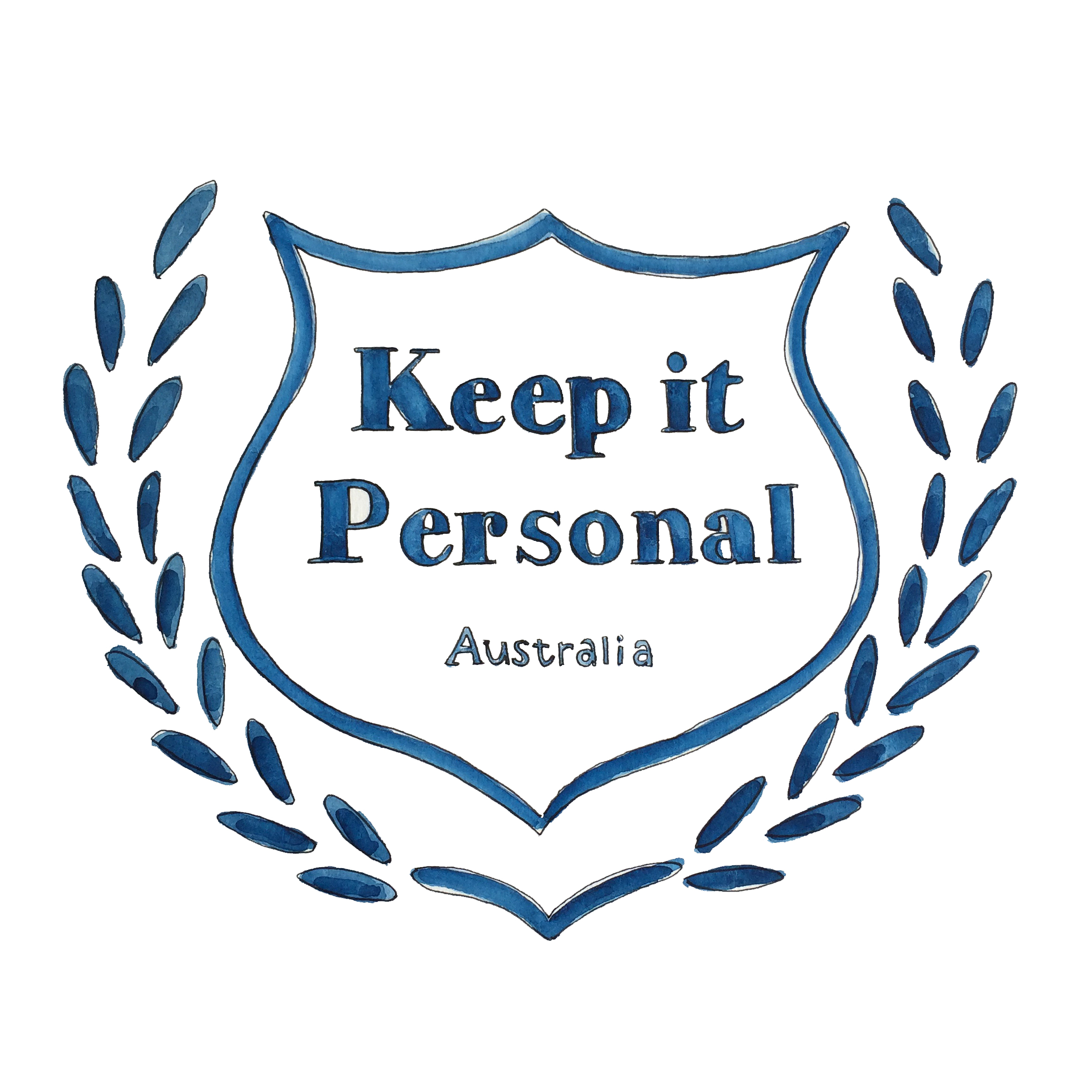Keep it Personal Watercolour Logo