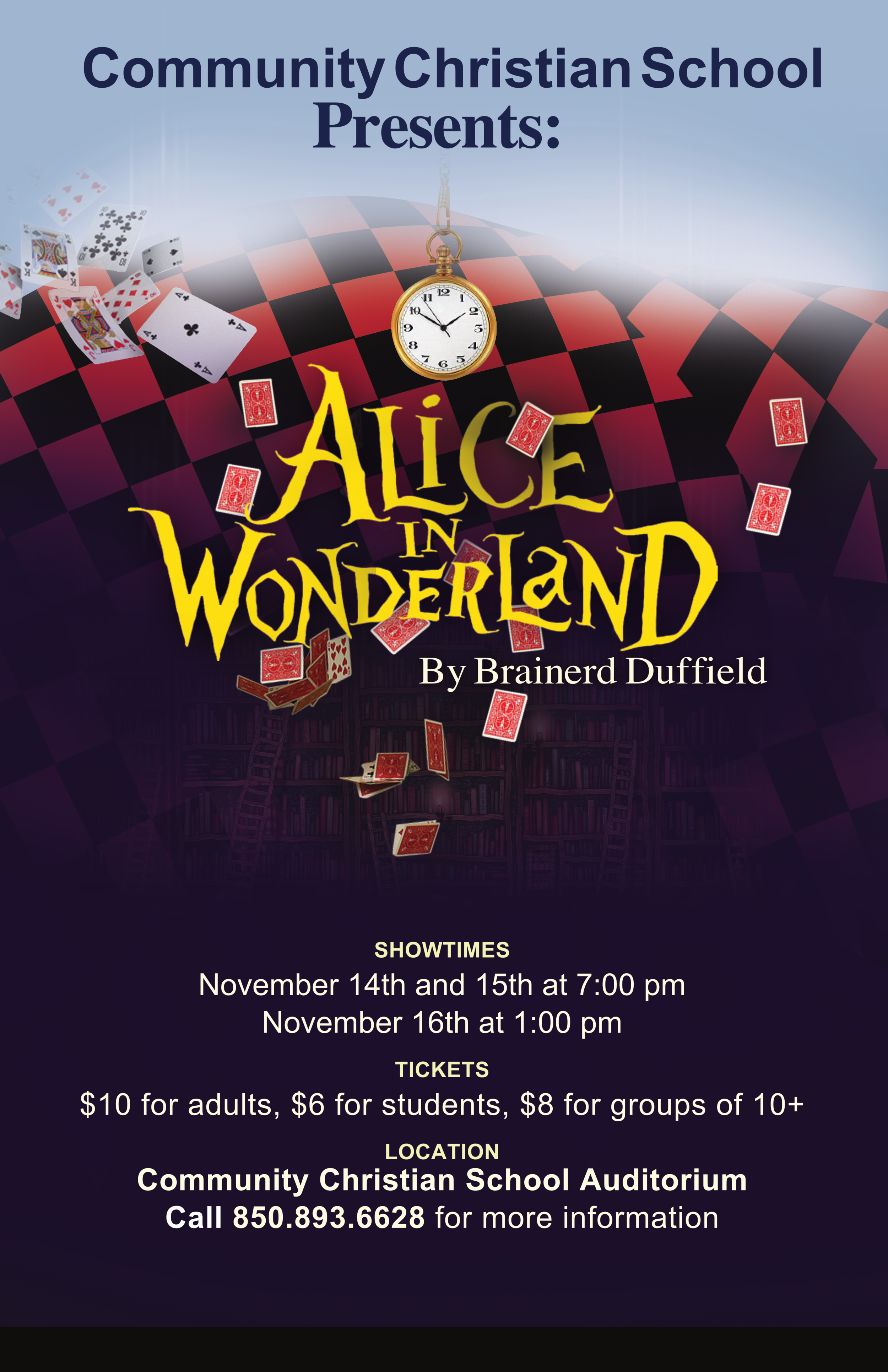 ALICE IN WONDERLAND - NOV 14-16