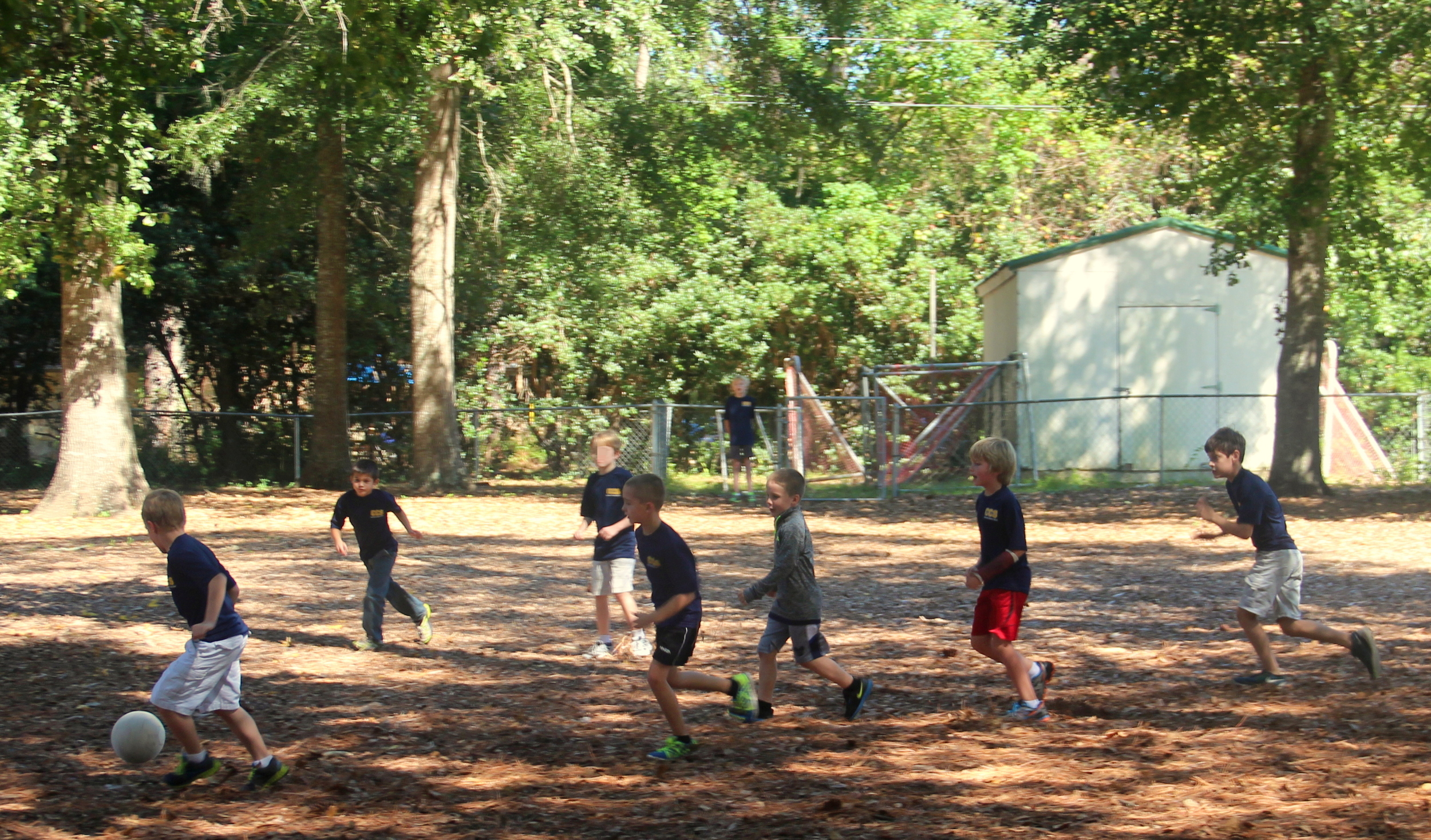 During the after school program, the students enjoy playing different sports.