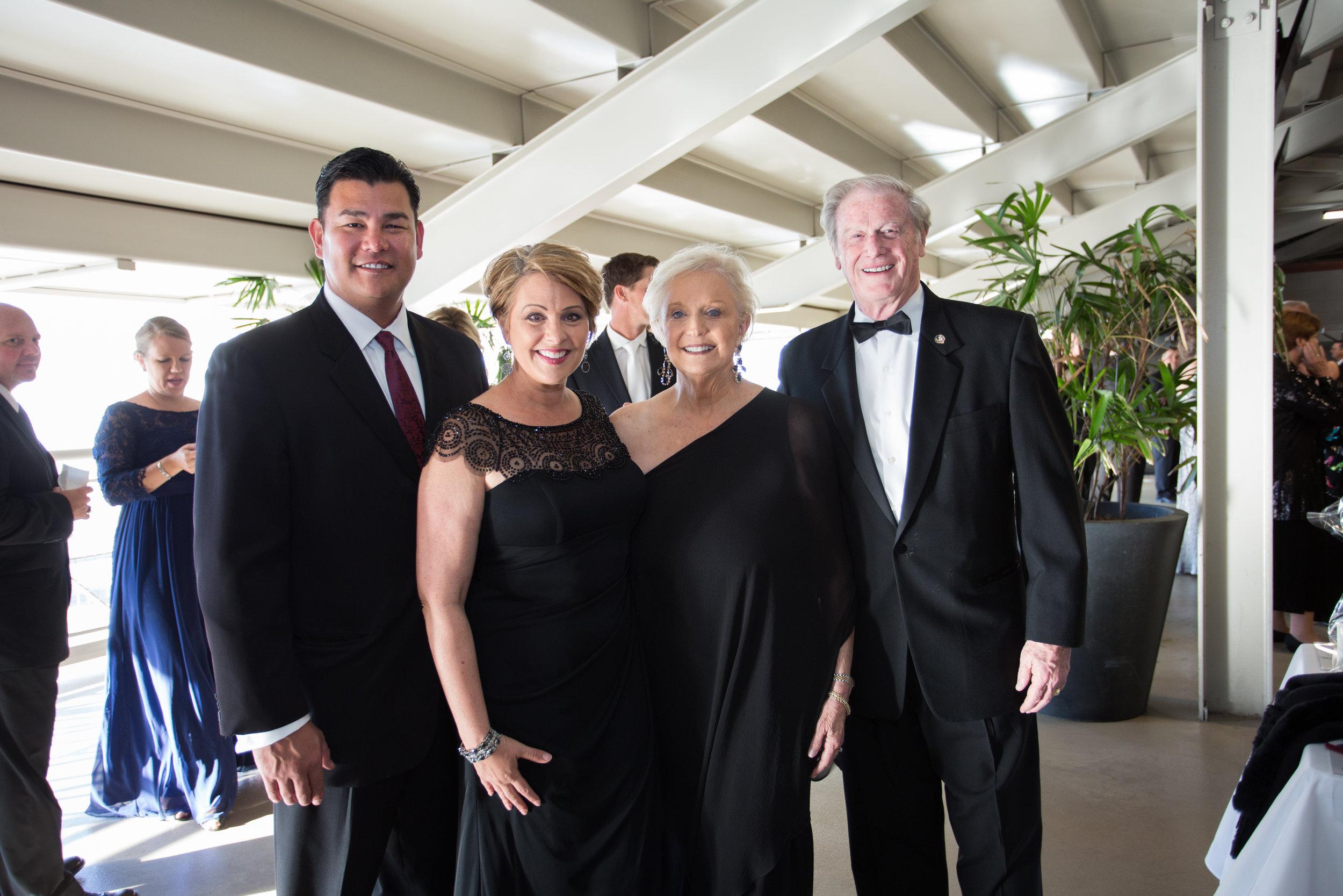 Julie Montanaro and husband Zack with President John and Mrs. Thrasher