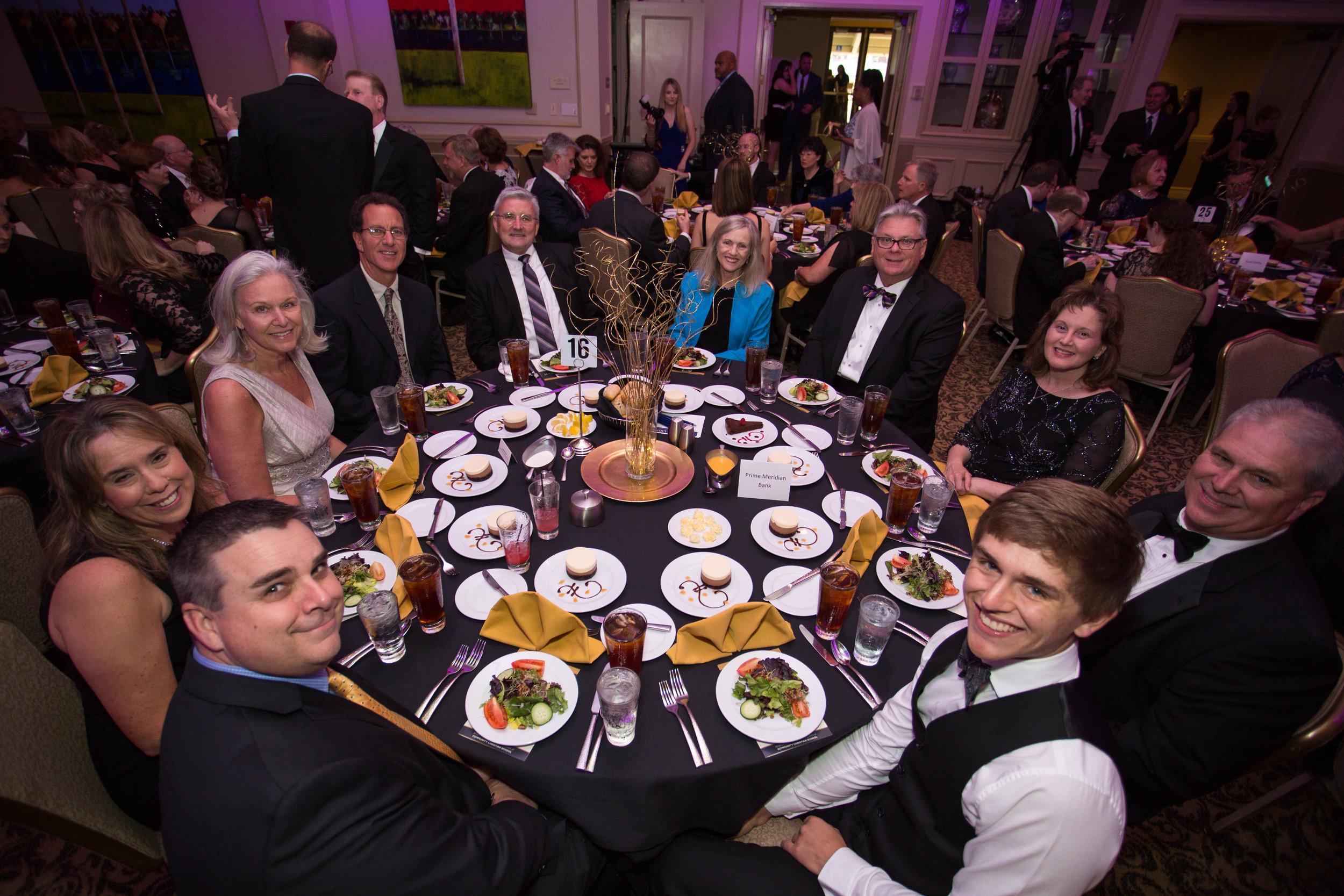 Celebrity guests TCC President and Mrs. Jim Murdaugh with gala sponsor Prime Meridian Bank