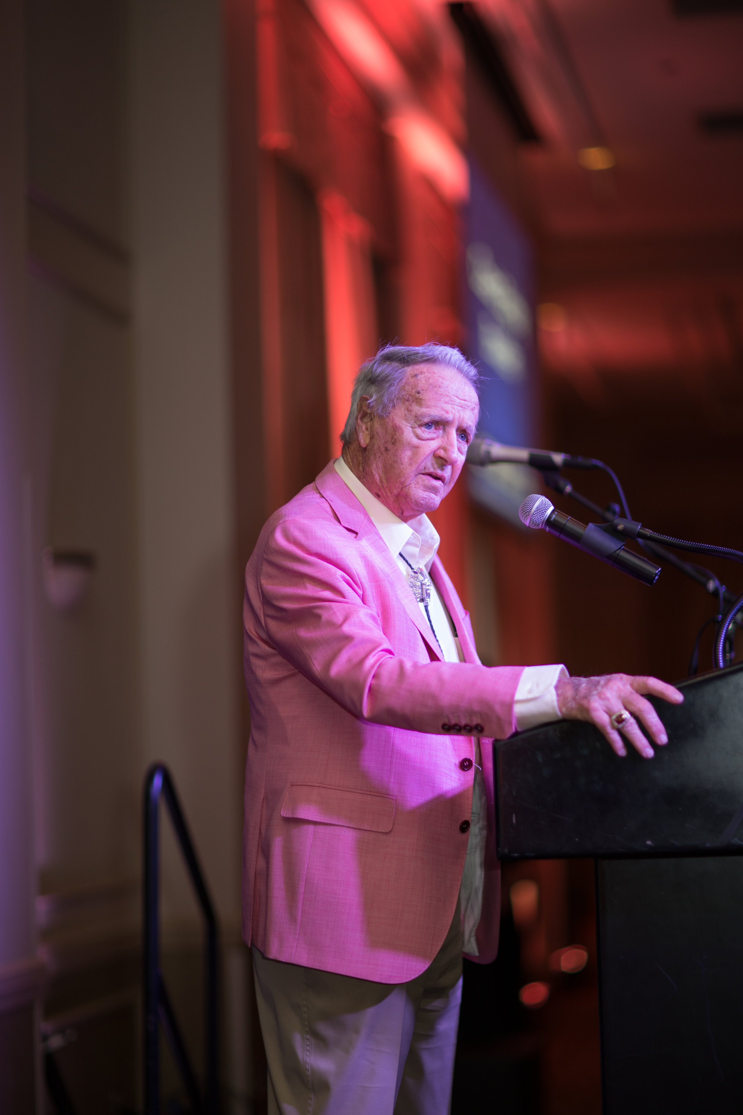 Coach Bobby Bowden speaks just after announcement of Bobby and Ann Bowden Athletics Complex to be built at Community Christian School
