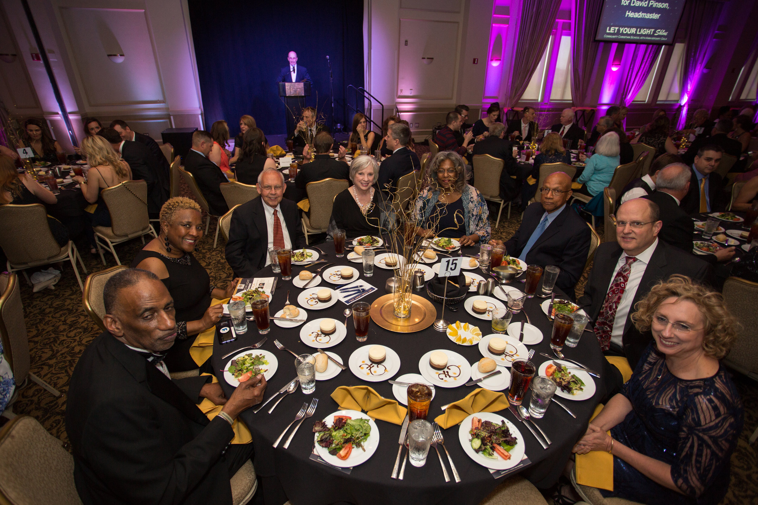 Celebrity guests FAMU President and Mrs. Larry Robinson share the evening with sponsors Ken and Jean Boutwell and Jennifer Patty of BestSellers Realty.