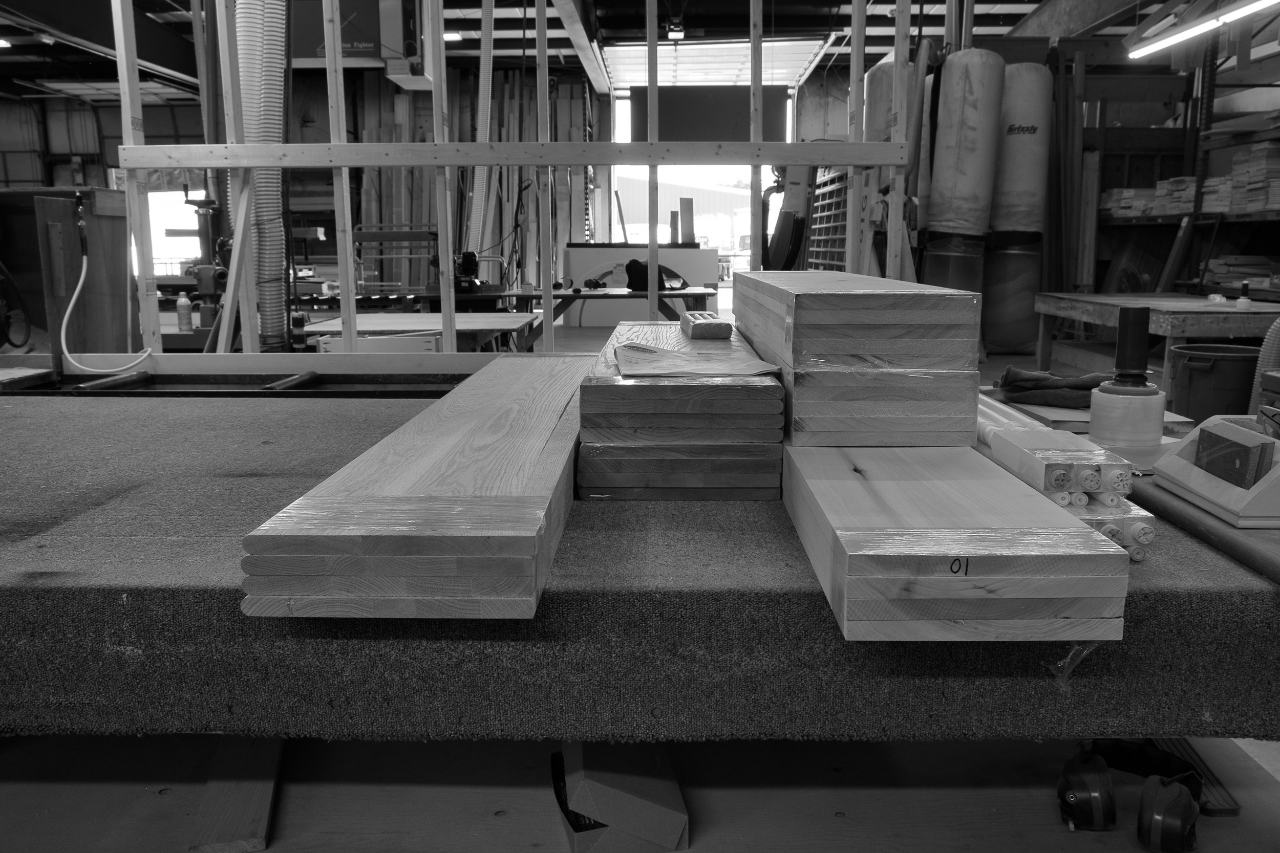Milled treads and risers for a recent renovation on a house in the Outer Cape