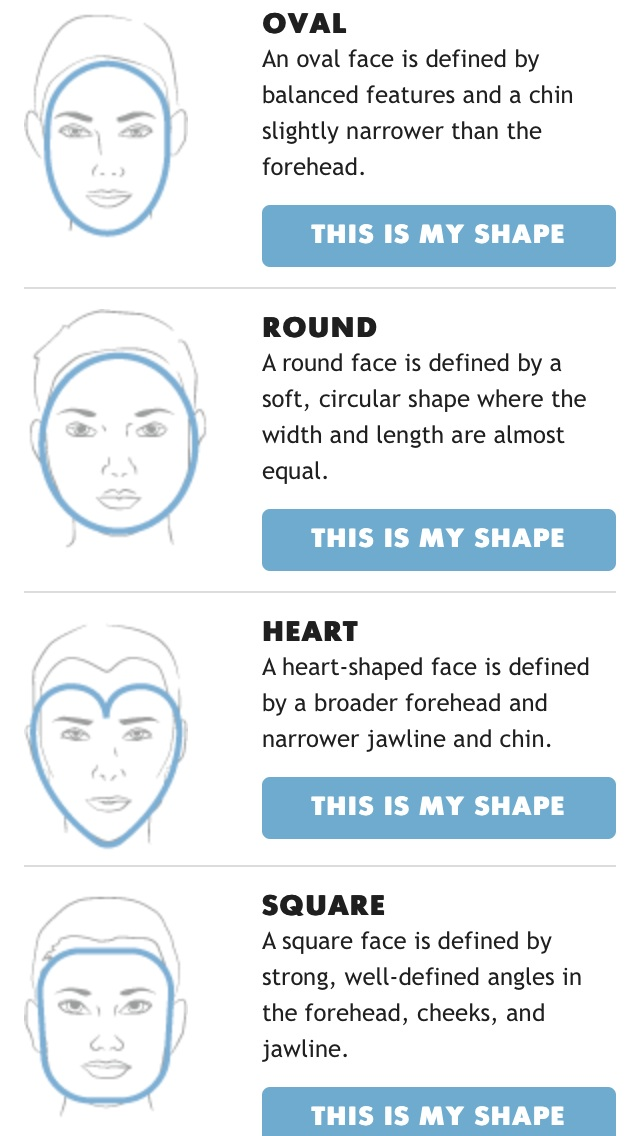 Image Courtesy of Google  #knowyourfaceshape #oval #round #heart #square