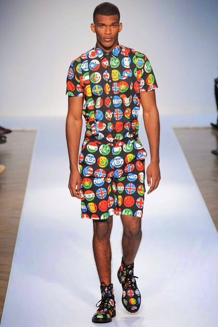 I love the idea of print upon print. As a maverick man one should never be afraid to mix bold prints with something whimsical and over the top.  Image Courtesy of Google