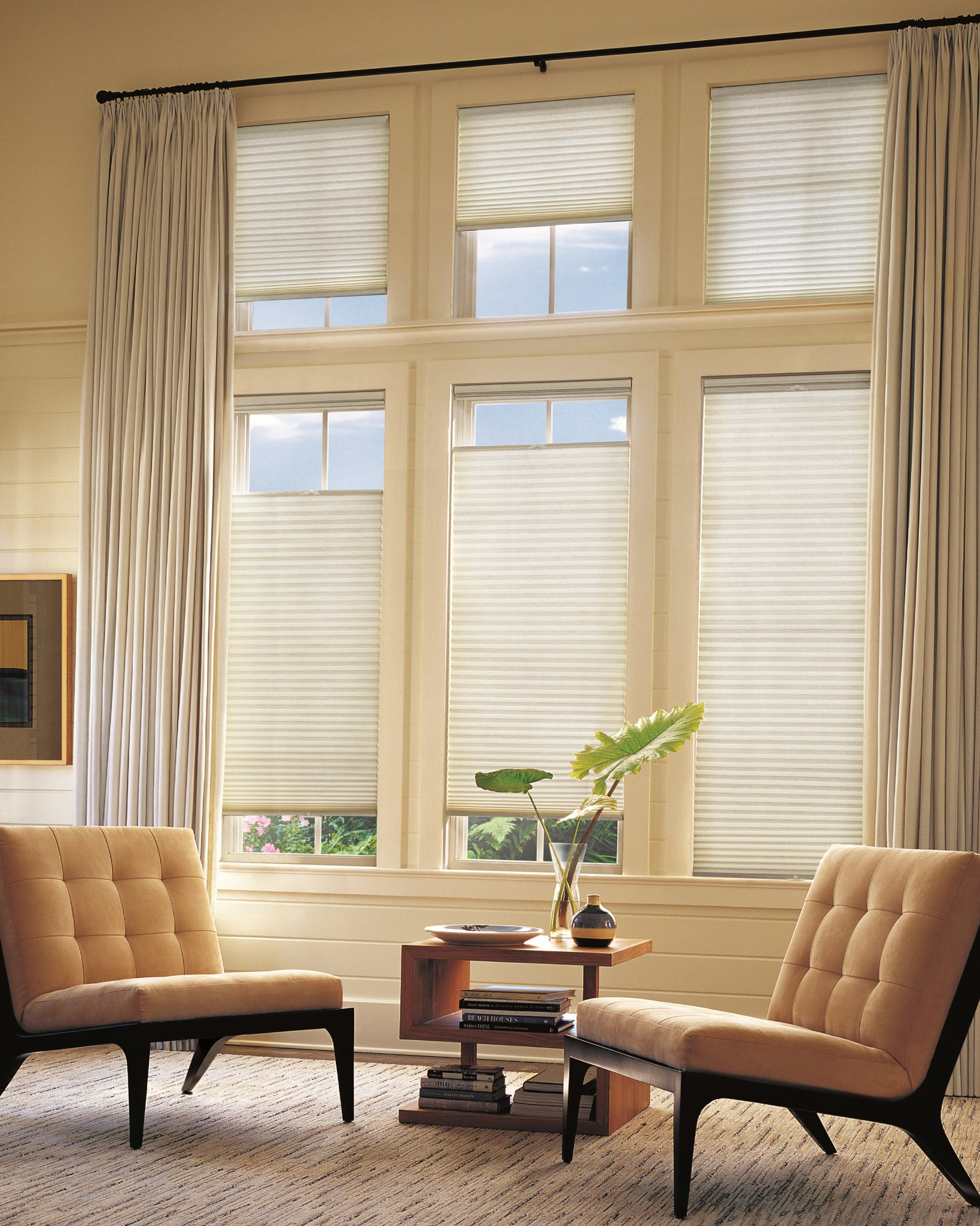 Living room window treatment