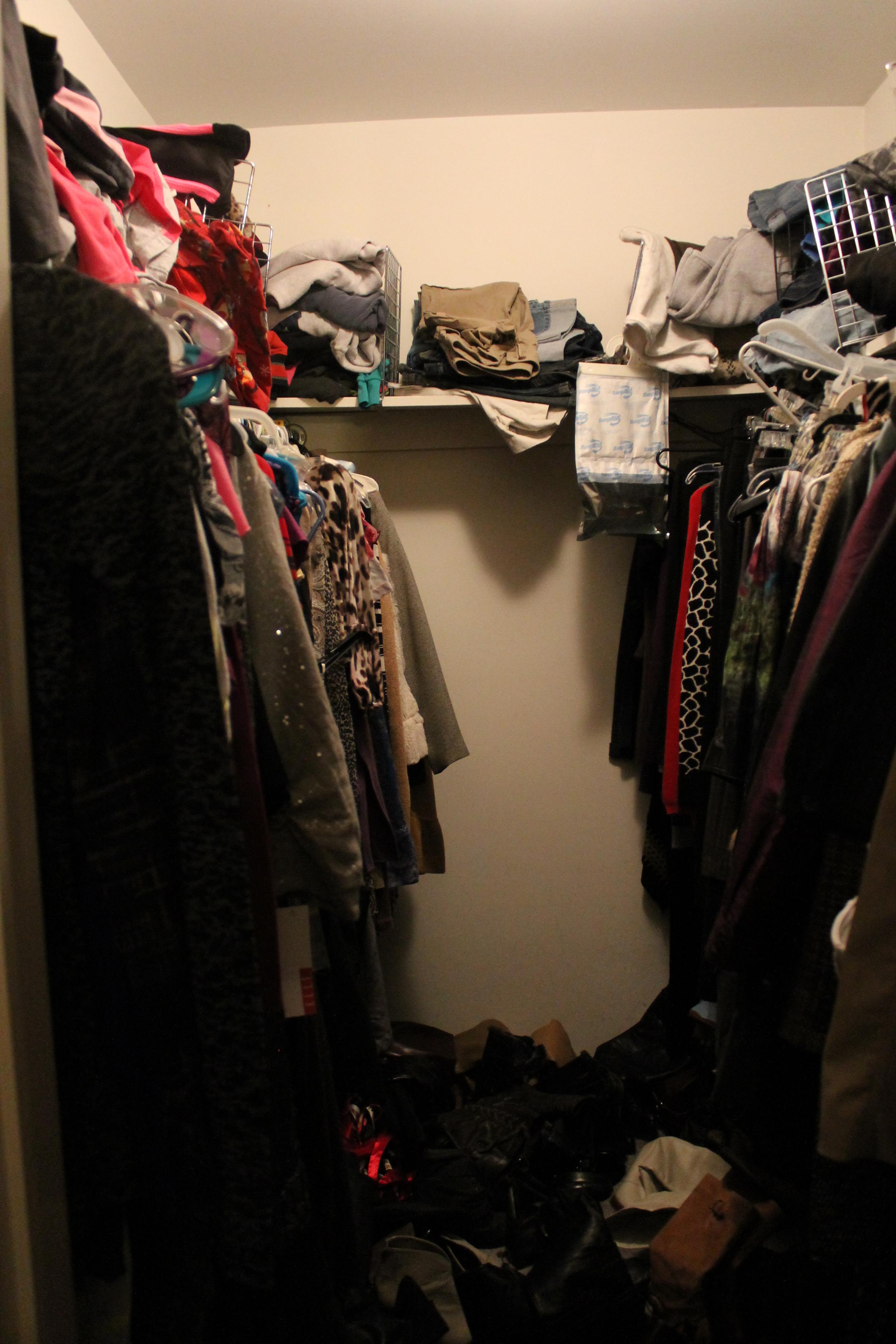 Master Bedroom Closet: Before