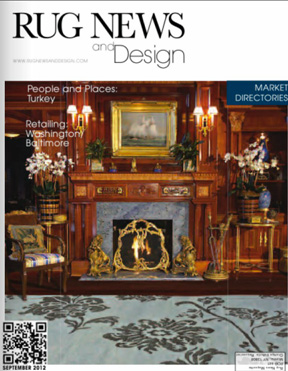 Rug News and Design, September 2012:  Victoria is profiled in a Q&A about floor coverings, custom rugs, and design in general.