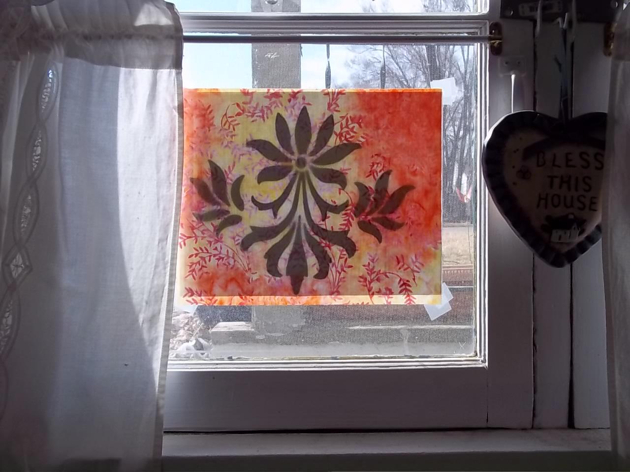 Fleur de Lis   pattern ready to trace using Nature's light box.