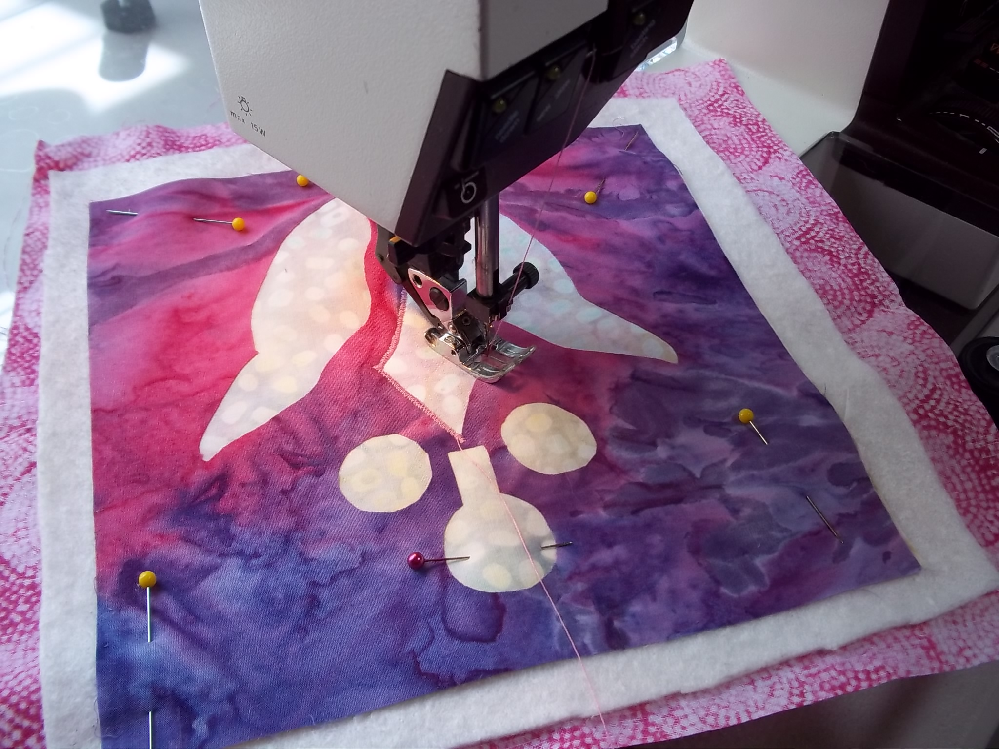 Stitch with Appli-quilting.