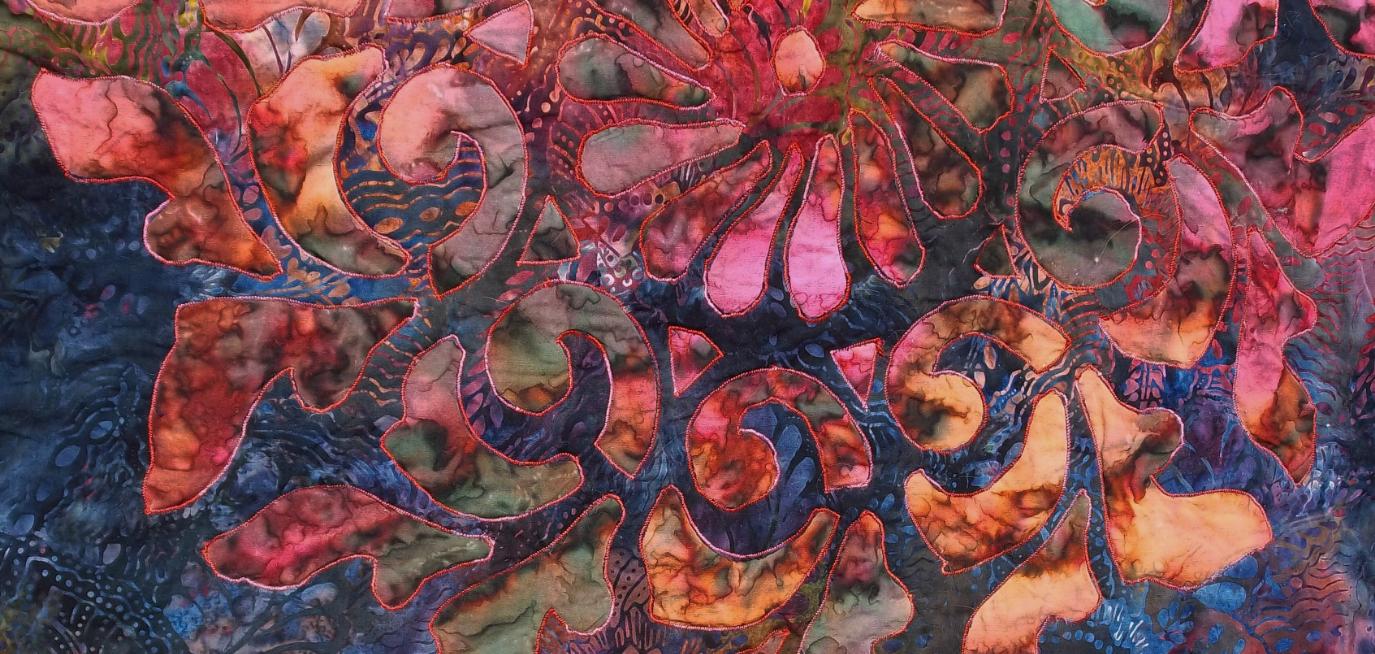 Radiance, Medallion V . Machine appli-quilted