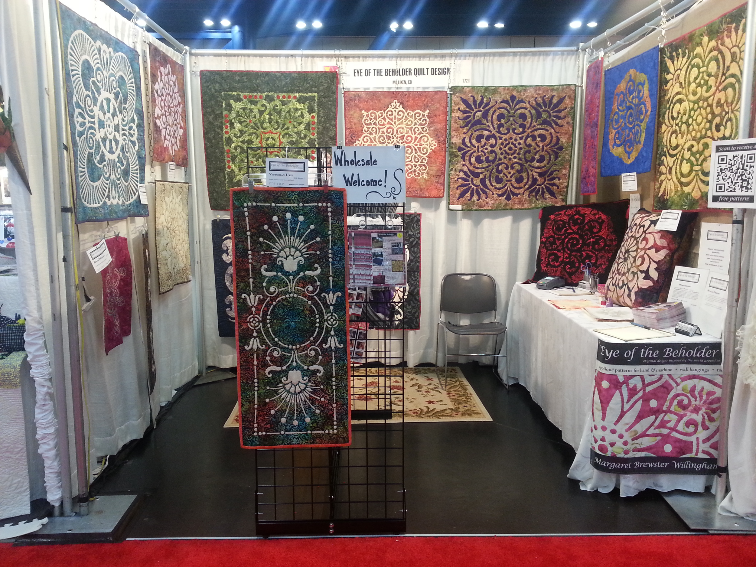 Eye of the Beholder  booth at Houston International, 2013.