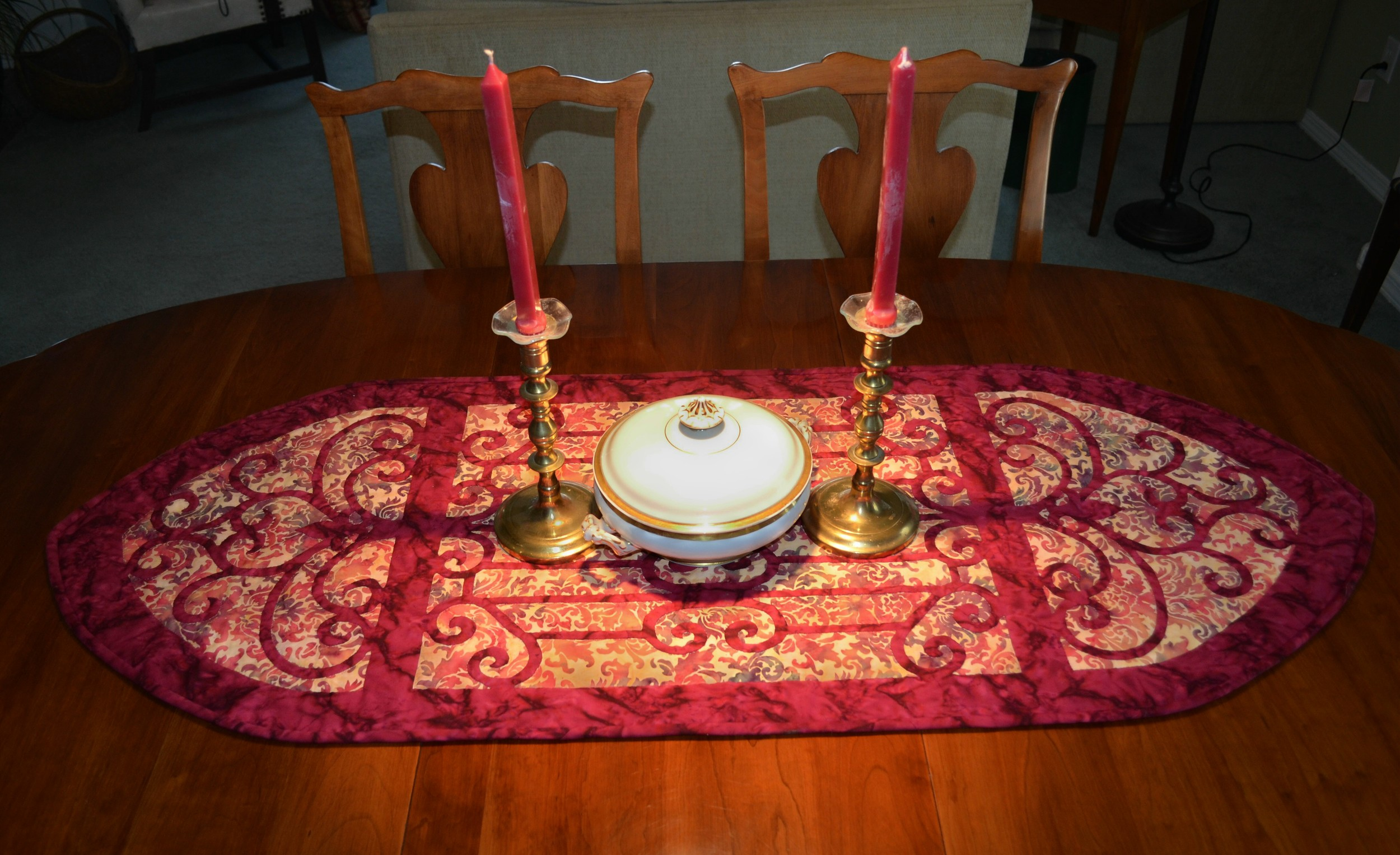 Karen's Hospitality, full width on table with casserole and candles(2).jpg