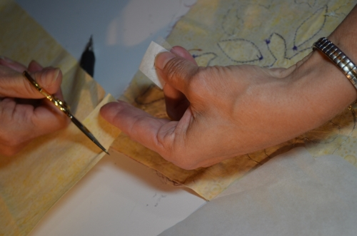 4. Cut a square of your background fabric.