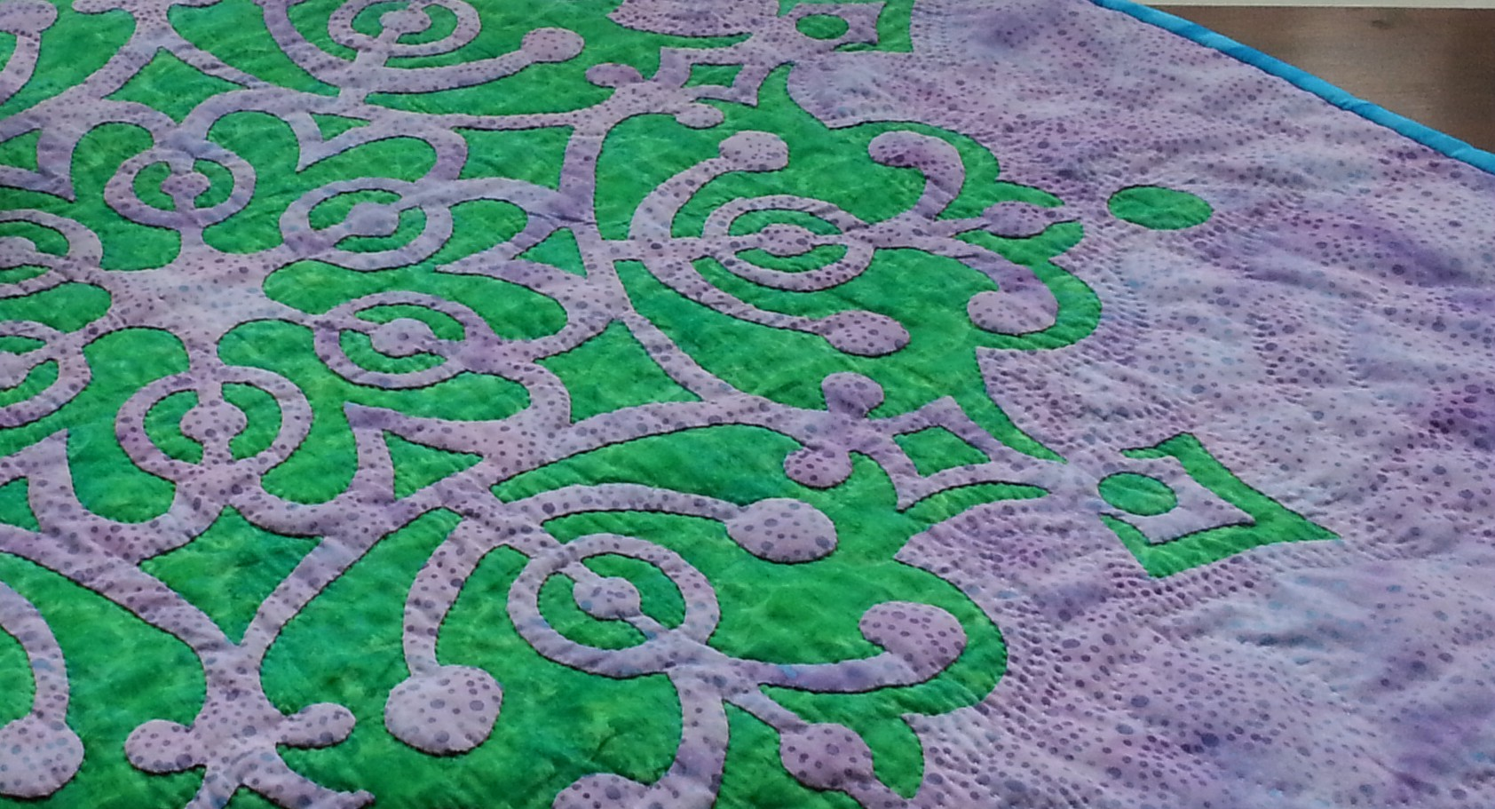 Frozen Wonder  ,  Medallion VIII . The perfect center for a quilt.