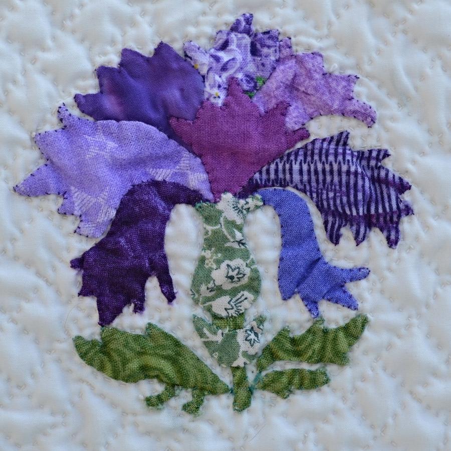 Purple flower, Summer Flowers, semi-finalist AQS Quilt Week/ Des Moines, 2014