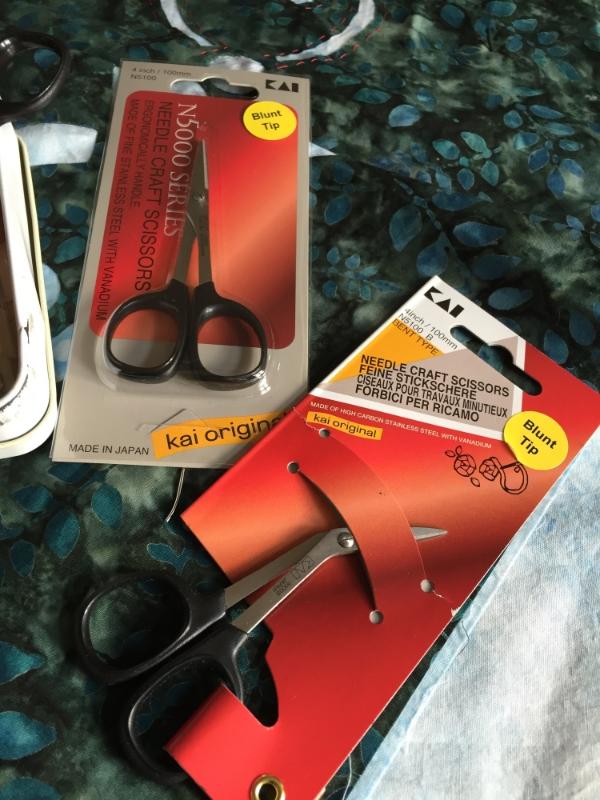 Scissors honed specially for your reverse applique needs. By Kai.