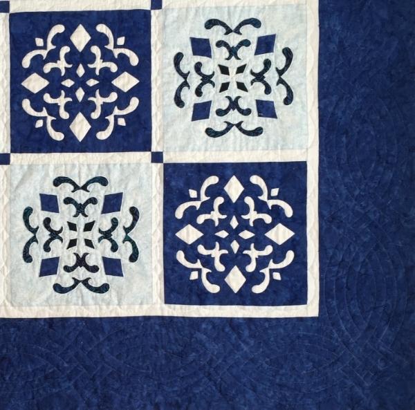 """Double Dutch Delft Quilt (56"""" x 56"""")"""