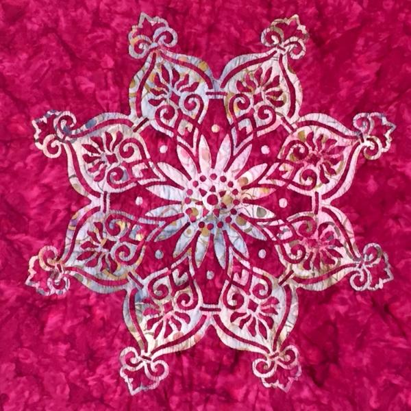 "Rose Window, medallion II (21.5"" x 21.5"") hand only"