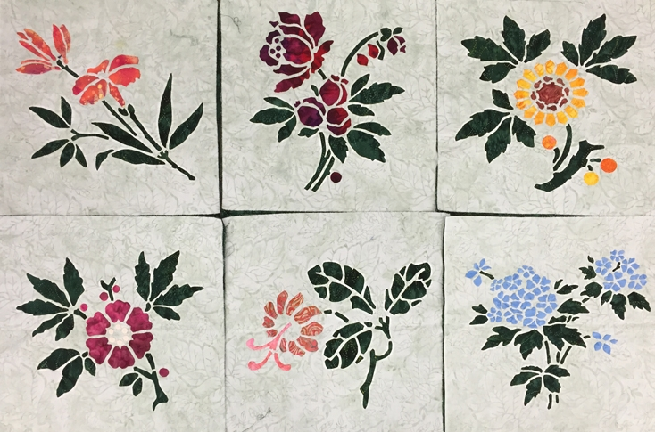 Lily,1 of 9, Rose, 2 of 9, Sunflower, 3 of 9, Apple Blossom, 4 of 9, Forget-Me-Not, 5 of 9  , and   Trumpet Vine, 6 of 9  , of    Victorian Flower Garden   .