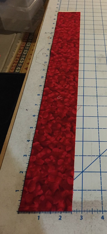"Binding strip cut 2.5"" wide x WOF or LOF."
