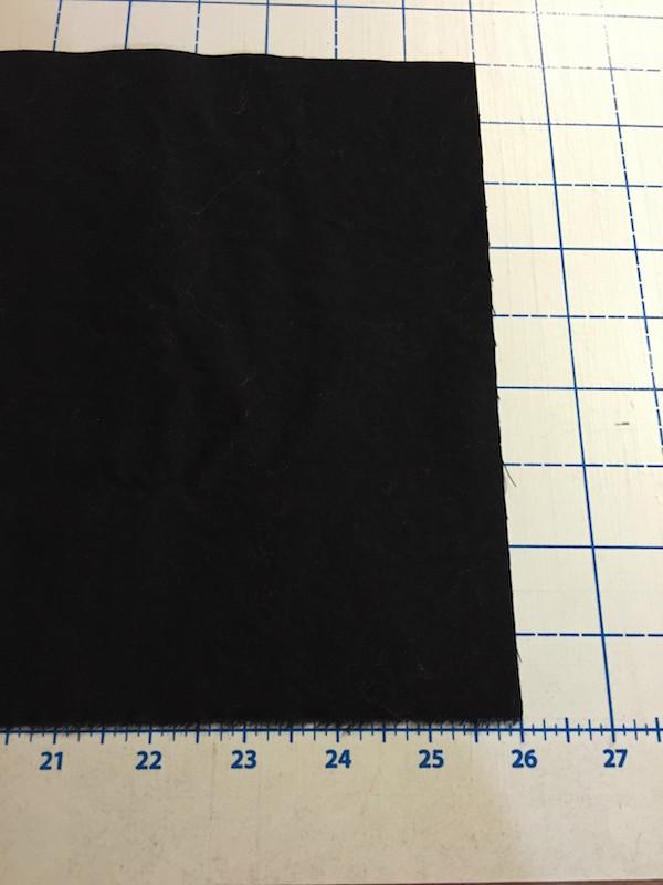 "Cut sleeve fabric width of piece(26"") by twice the sleeve depth (9"")."