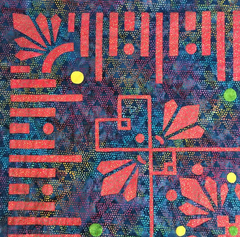 Desert Blooms, Medallion XI. More fabric fun!