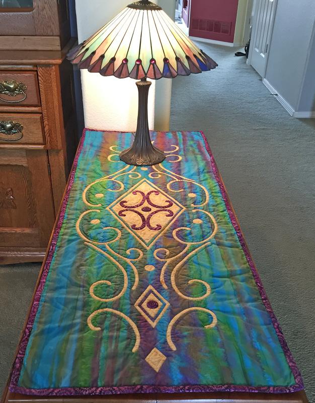 """Vintage Jewel   table runner VI  (18"""" x 48"""")"""