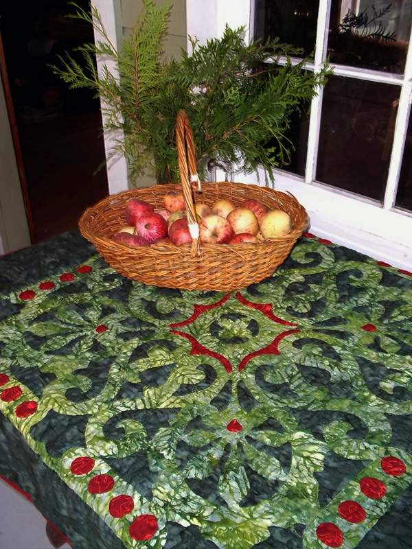 "Christmas Berries, Medallion VII    (36"" x 36"")"