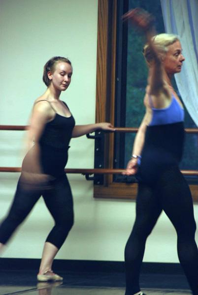 Me teaching Ballet class, May 2010.