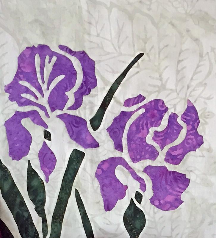 """Iris, 9 of 9(16"""" x 16"""") hand or machine"""