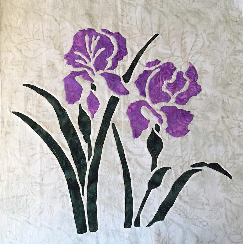 Victorian Flower Garden, Iris, 9 of 9.