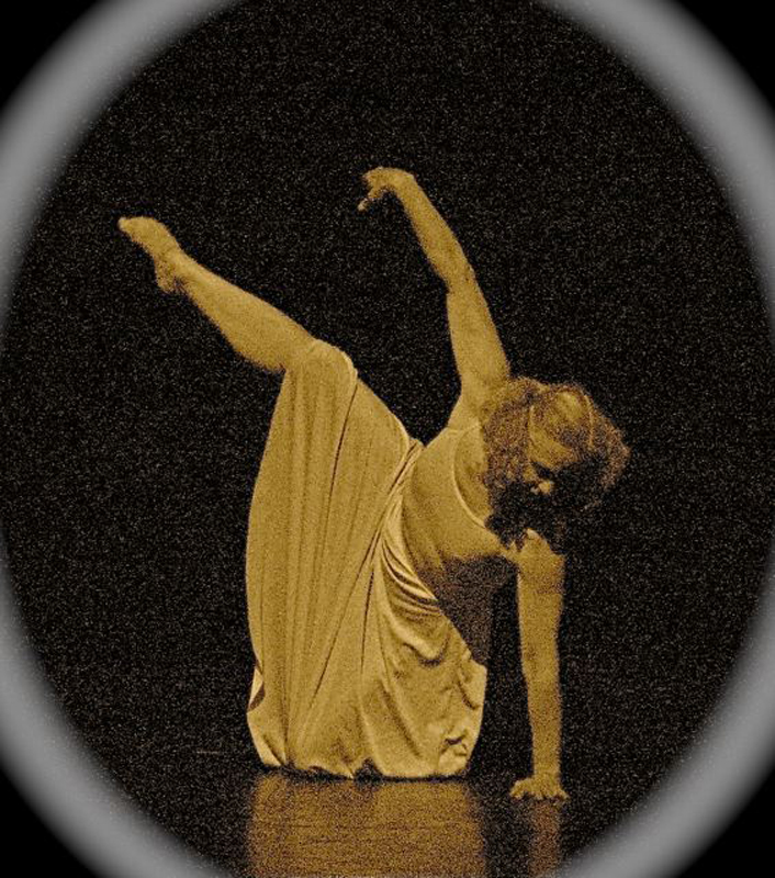 "Margaret Willingham dancing, age 51. ""Glance"" choreographed by her."