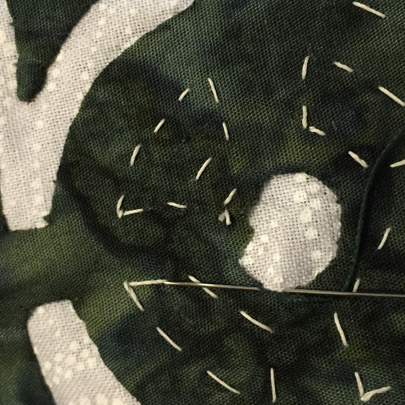 RA circle- next stitch taken